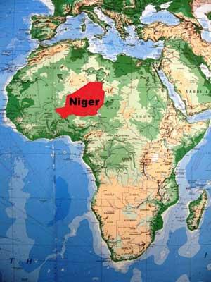 africa map niger